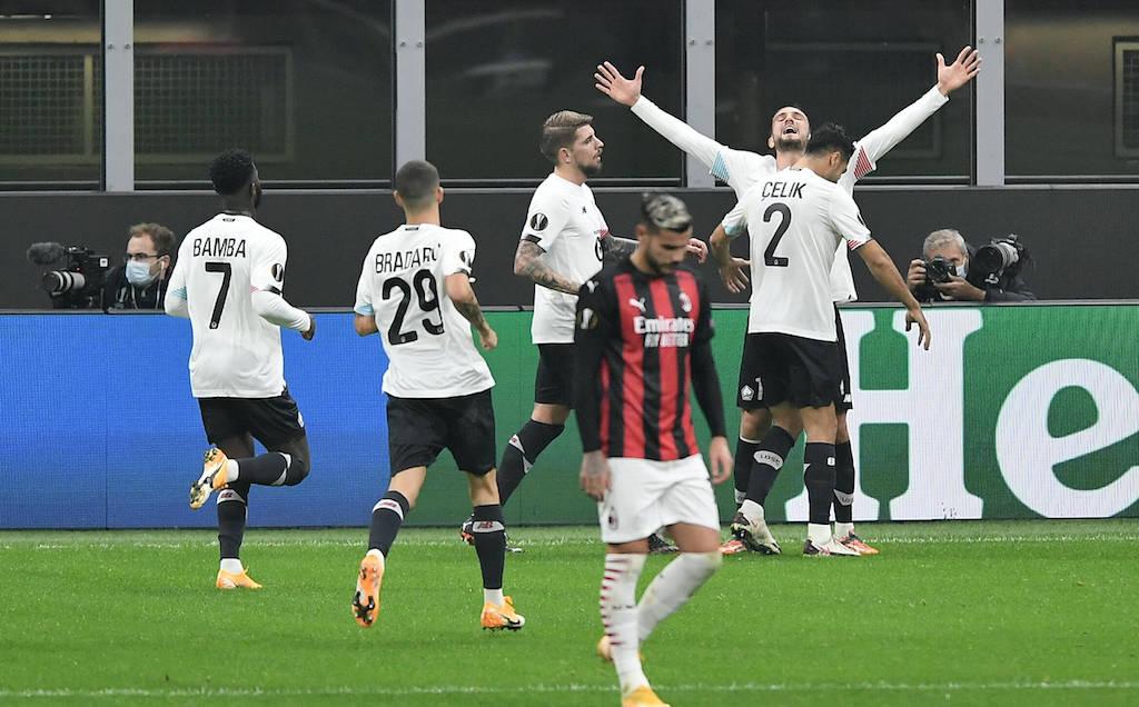 Db Milano 05/11/2020 - Europa League / Milan-Lille / foto Daniele Buffa/Image nella foto: esultanza gol Yusuf Yazc PUBLICATIONxNOTxINxITA